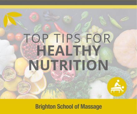 healthy nutrition top tips